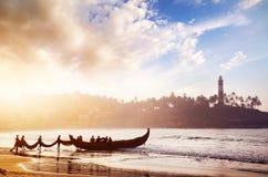 Pescadores en la India Foto de archivo libre de regalías