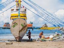 Pescadores en las Filipinas Imagen de archivo libre de regalías