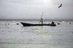 Pescadores en San Blas, Panamá Imágenes de archivo libres de regalías