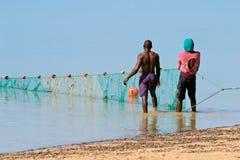 Pescadores mozambiqueños Fotografía de archivo libre de regalías