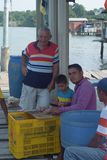 pescadores na América Latina foto de stock royalty free