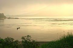 Pescadores na névoa Foto de Stock