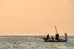 Pescadores no karkennah fotografia de stock