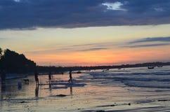 Pescadores no nascer do sol Fotos de Stock Royalty Free
