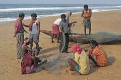 Pescadores no trabalho Imagem de Stock Royalty Free