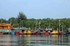 Pescadores pueblo, Kuantan, Malasia Imagen de archivo