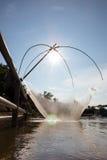 Pescadores que pescan la adulación Fotos de archivo libres de regalías