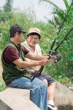 El hablar con la pesca Fotografía de archivo libre de regalías