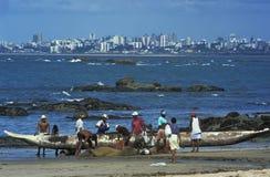 Pescadores, Salvador, el Brasil Fotos de archivo libres de regalías