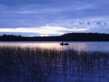 Pescadores solitários Fotografia de Stock