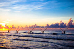 Pescadores vietnamianos Foto de Stock