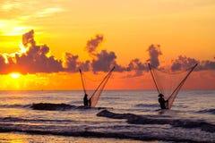 Pescadores vietnamianos Imagem de Stock