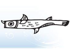 Pescados abstractos de la historieta ilustración del vector