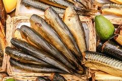 Pescados ahumados Fotografía de archivo libre de regalías