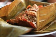 Pescados al curry cocidos al vapor tailandeses Imagen de archivo libre de regalías