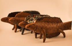 Pescados antiguos de la arcilla, cerámica, jarros, floreros, cerámica Fotografía de archivo libre de regalías