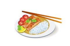 Pescados asados, comida Imagen de archivo libre de regalías