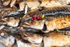 Pescados asados a la parilla Imagenes de archivo