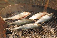 Pescados asados a la parilla 2 Imagenes de archivo