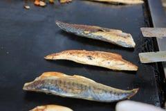 Pescados asados a la parilla Imagen de archivo libre de regalías
