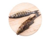 Pescados asados a la parrilla de la lubina Imagen de archivo