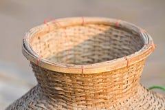 Pescados atrapados. Hecho de bambú. Imagenes de archivo