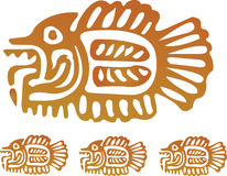 Pescados aztecas Imágenes de archivo libres de regalías