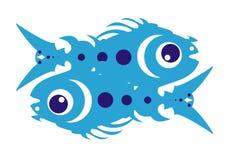 Pescados azules de la animación Imágenes de archivo libres de regalías