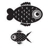 Pescados blancos y negros Stock de ilustración
