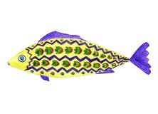 Pescados brillantes en colores amarillos, violetas, verdes ilustración del vector