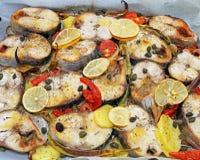 Pescados cocidos del bonito Fotografía de archivo