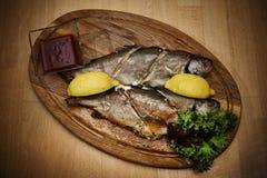 Pescados cocinados fotografía de archivo libre de regalías