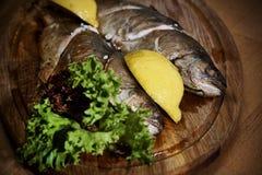 Pescados cocinados foto de archivo libre de regalías