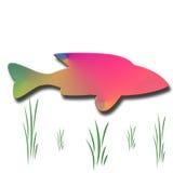Pescados coloreados extracto Stock de ilustración