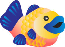 Pescados coloridos Stock de ilustración