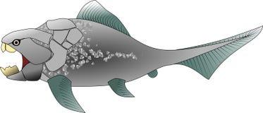 Pescados de Duncleosteus Imágenes de archivo libres de regalías