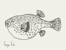Pescados de Fugu Ilustración Fotos de archivo