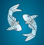 Pescados de Japón del vector Imágenes de archivo libres de regalías