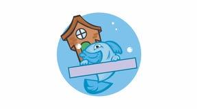 Pescados de la casa ilustración del vector