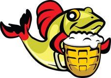 Pescados de la cerveza ilustración del vector