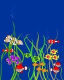 Pescados de la historieta ilustración del vector