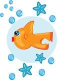 Pescados de la historieta en fondo aislado Libre Illustration