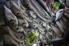 Pescados de las bremas de la Cerda-cabeza del mercado de pescados Imagen de archivo libre de regalías