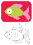 Pescados de las historietas del vector. Foto de archivo
