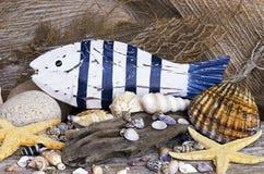 Pescados de madera Fotografía de archivo libre de regalías