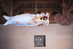 Pescados de madera del templo del nanputuo Fotos de archivo libres de regalías