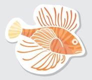 Pescados del color del vector para su diseño. Imágenes de archivo libres de regalías