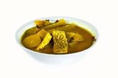 Pescados del curry. Imagenes de archivo