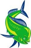 Pescados del delfín de Dorado stock de ilustración