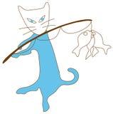 Pescados del efectivo del gato azul Fotografía de archivo